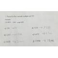 Soha's maths - great job!