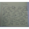 Jared's persuasive letter to Arthur - great vocabulary