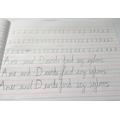 Ayla's extremely neat handwriting