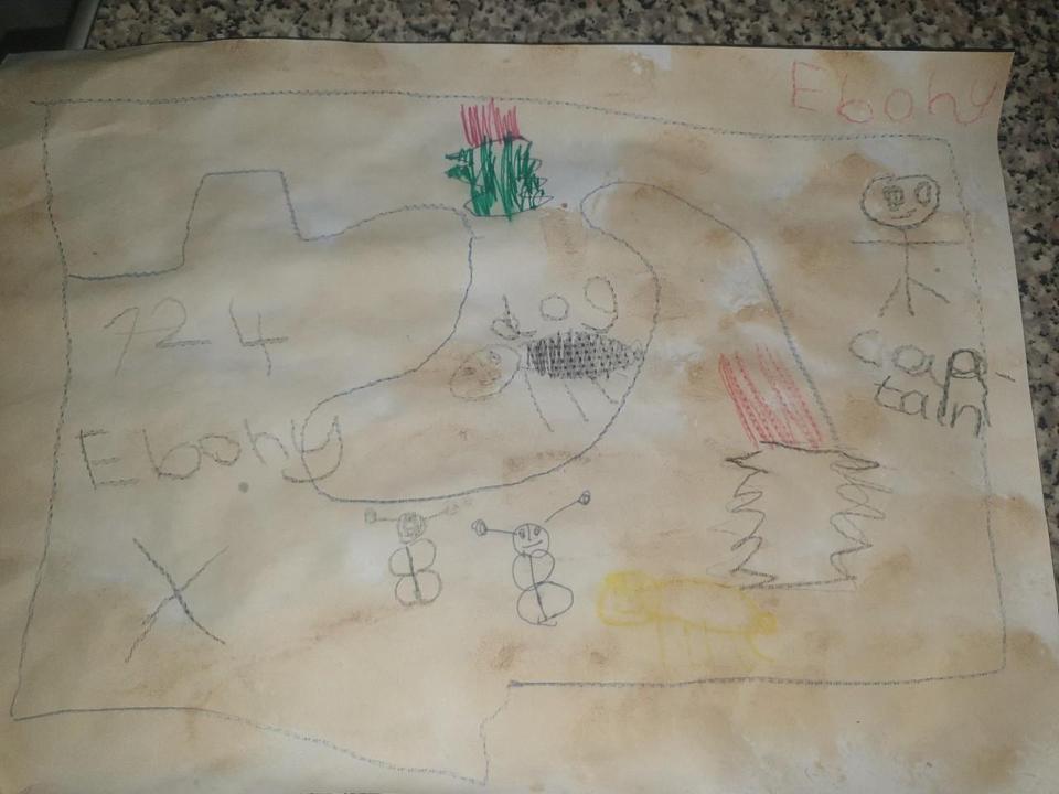 Ebony's treasure map...x marks the spot!