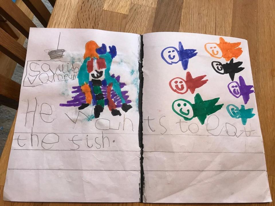 Isaac's pirate writing
