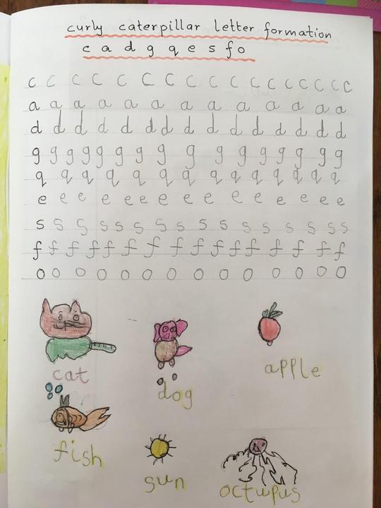Fantastic letter formation!