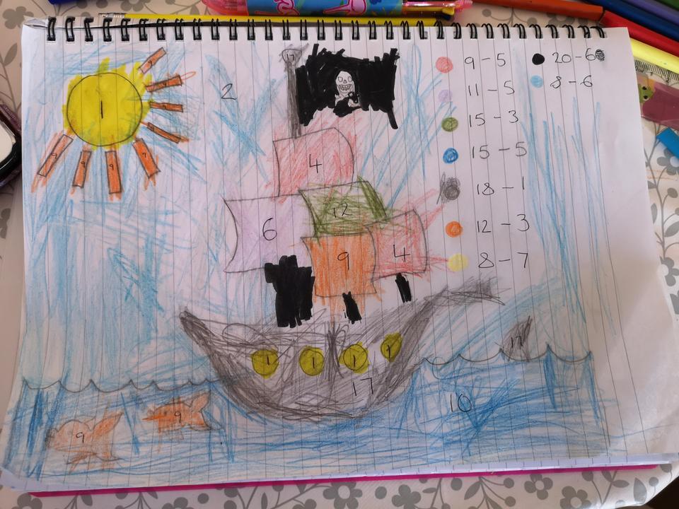 Maisie's take-away pirate ship!