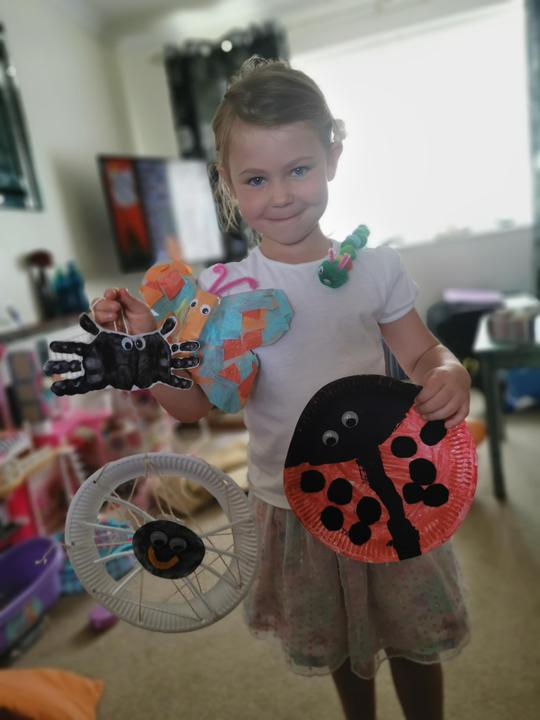 making fantastic minibeasts from paper plates!