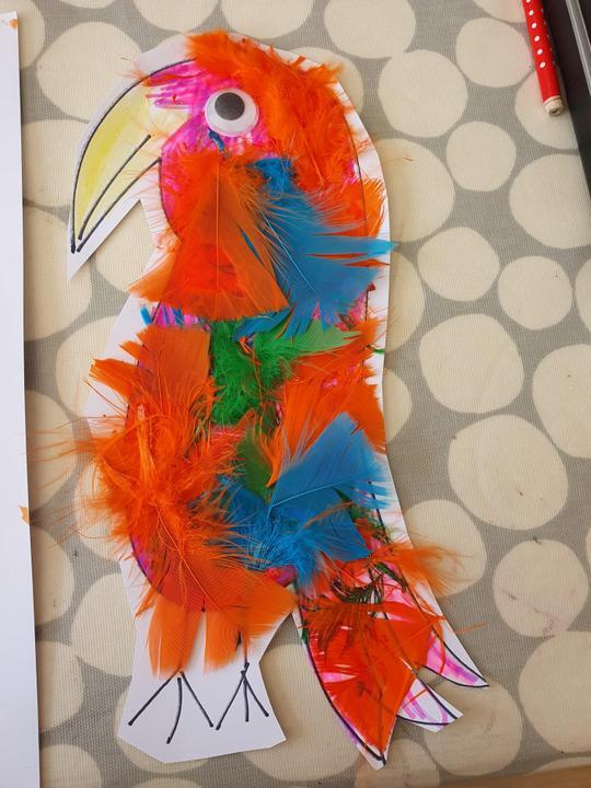 Hailie's parrot!