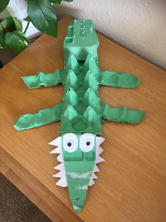 Ayushi's egg box crocodile!