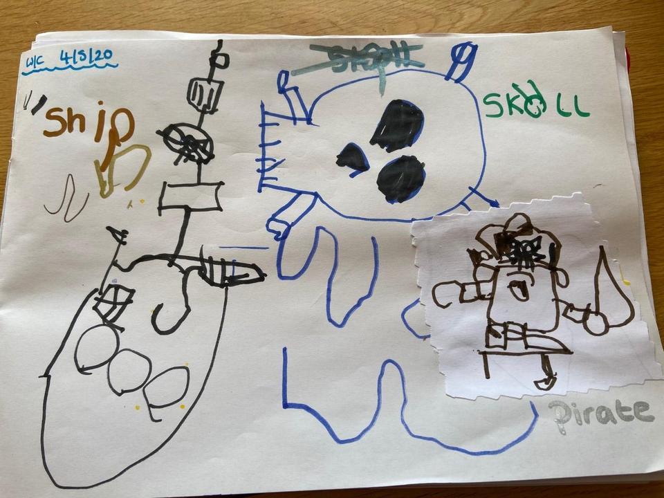 Jacob's fantastic pirate writing!