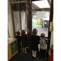 We were fascinated to watch Mr. Swindells jet washing our school!