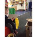 An amazing creation from one of our Preschool children - a real puppet show!