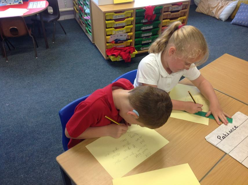 Designing posters for our arguments.