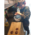 Mason making scrumptious cookies