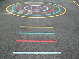 Playground target game.