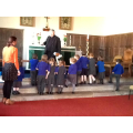 Exploring the church with Reverend Gary.