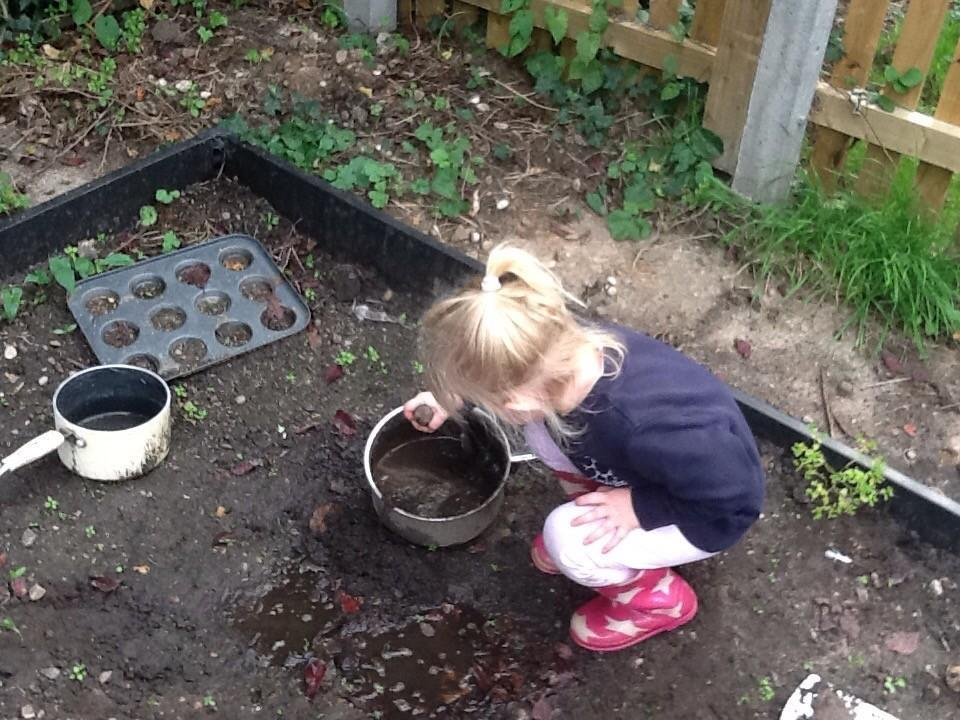 Magic potions in the garden