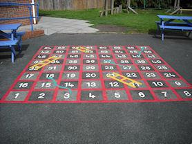 Playground snakes and ladders.