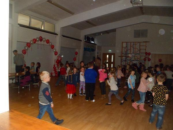 7. Socialising at the Key Stage 1 Valentine Disco