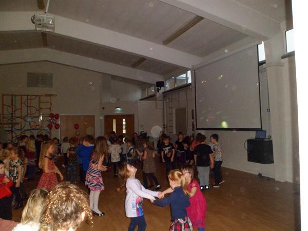 6. Socialising at the Key Stage 1 Valentine Disco