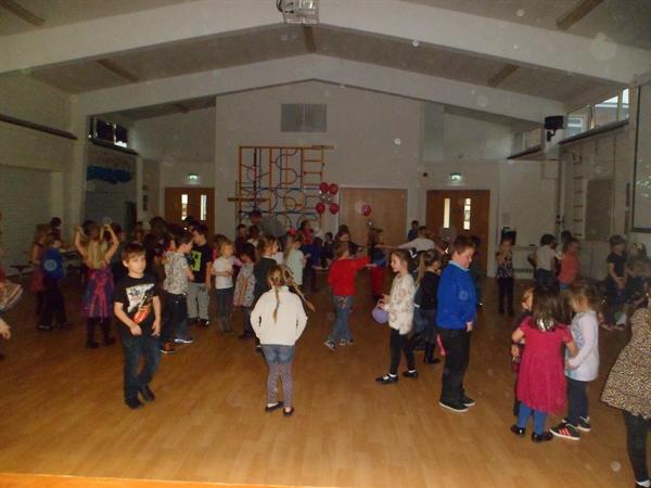 5. Socialising at the Key Stage 1 Valentine Disco