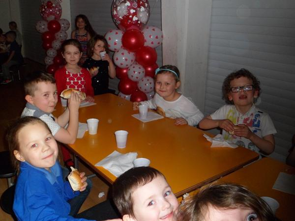 1. Socialising at the Key Stage 1 Valentine Disco