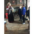 Bessie showed us how to dress a knight for battle.