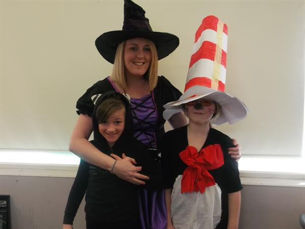 Winnie the Witch, her cat and The Cat in The Hat