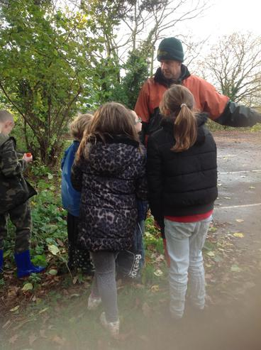 Mike taught us to name and identify trees.