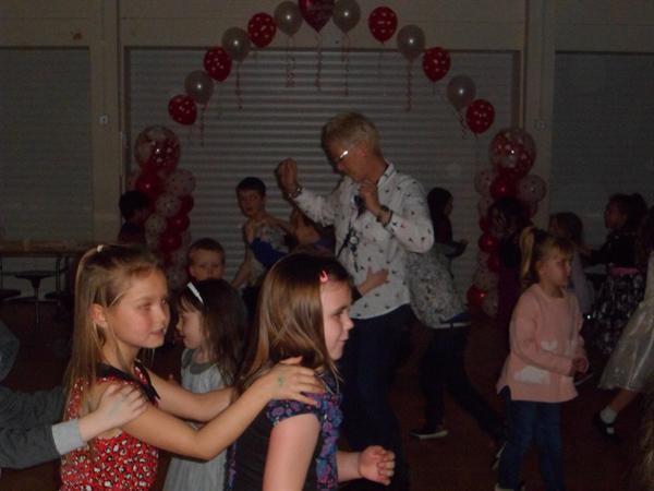 8. Dancing together at the KS1 Valentine Disco