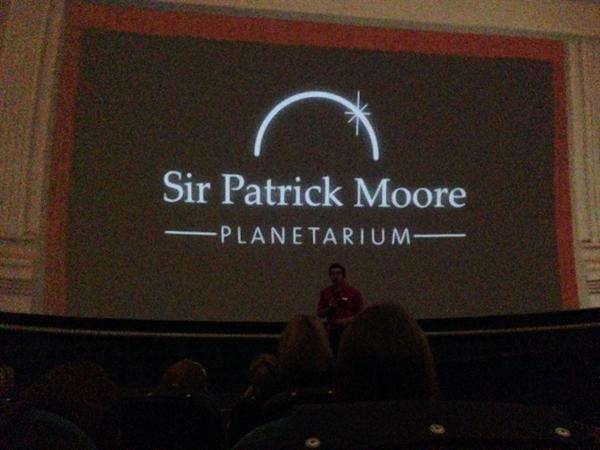 We saw a show in the planetarium