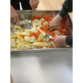 Mashing vegetables 🥕