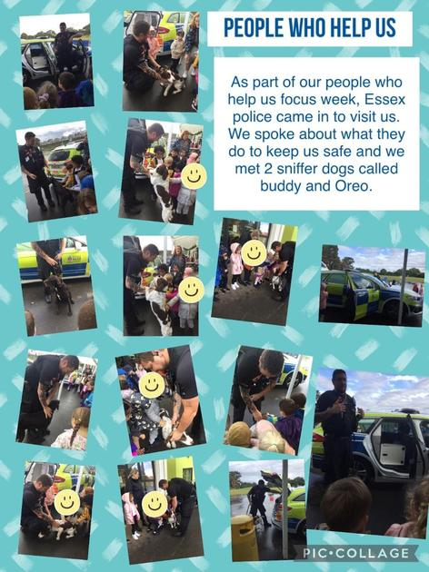 Today we had Essex police come in to talk to us about how they help us and keep us safe.