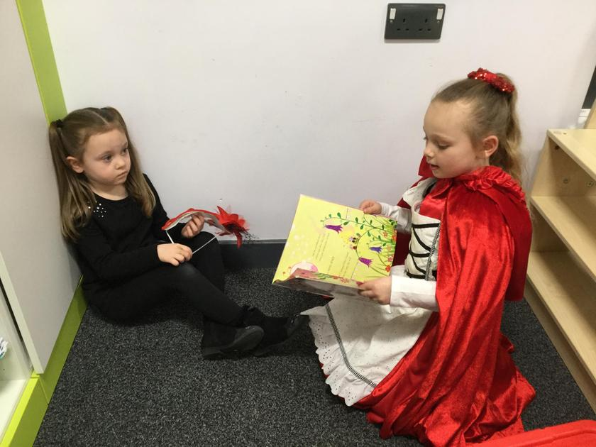 We read to EYFS children in the afternoon