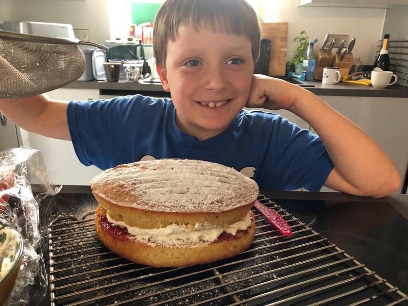 David's cake (he made it all alone!)