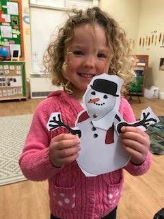Split pin snowman