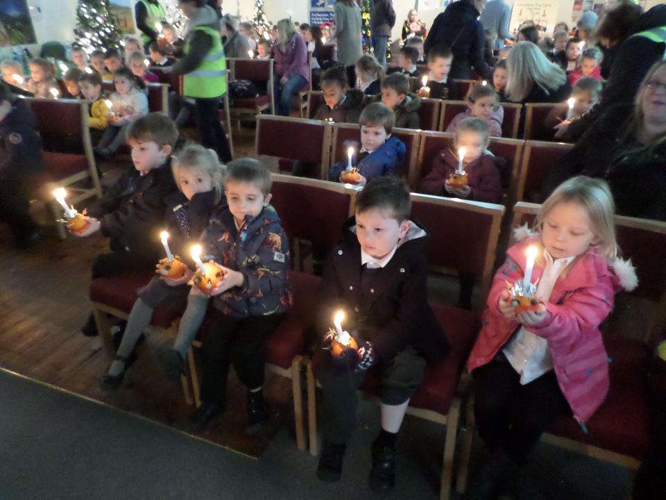 Christingle service in the church