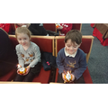 We learnt all about the symbolism of Christingles.
