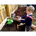 Digging area.