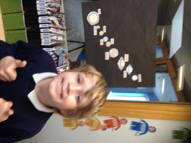 He is so proud of his space animation. Well done!