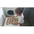 Imani baking yummy cakes!