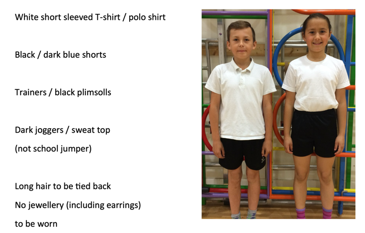 Children will get changed at school and come home wearing their P.E kit.