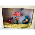 Abigail has made an amazing 3D aquarium!