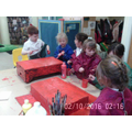 Children working together to create a Dragon
