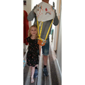 Lily H made a hot air balloon to make people smile