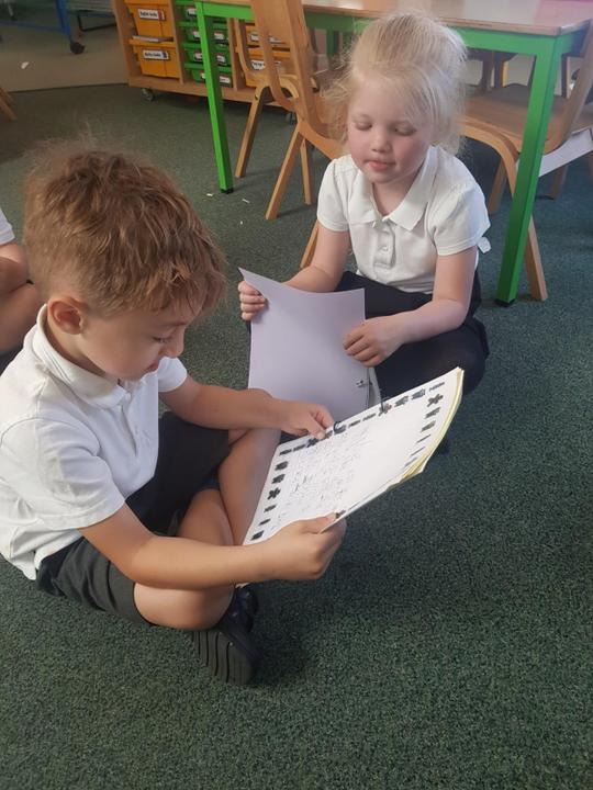 Sharing our books.