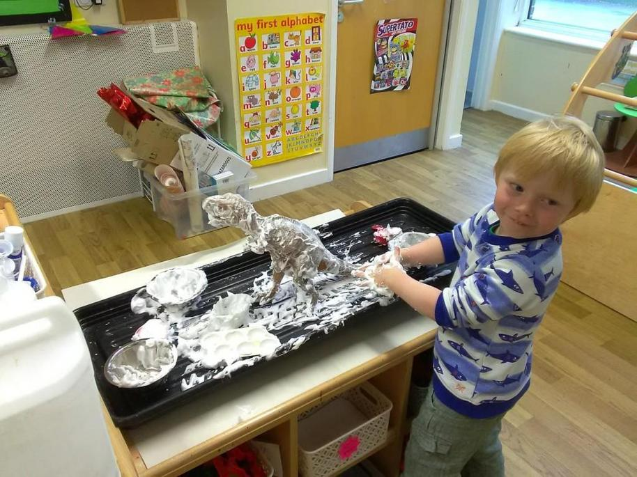 The little ones love the sensory tray!