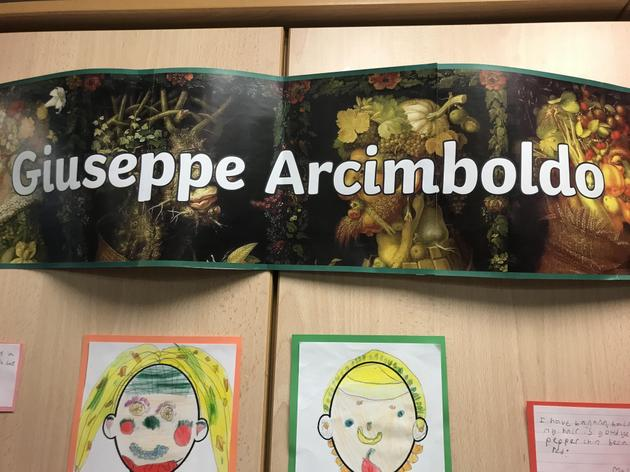 Canute class have been focusing their art work around Giuseppe Arcimboldo!