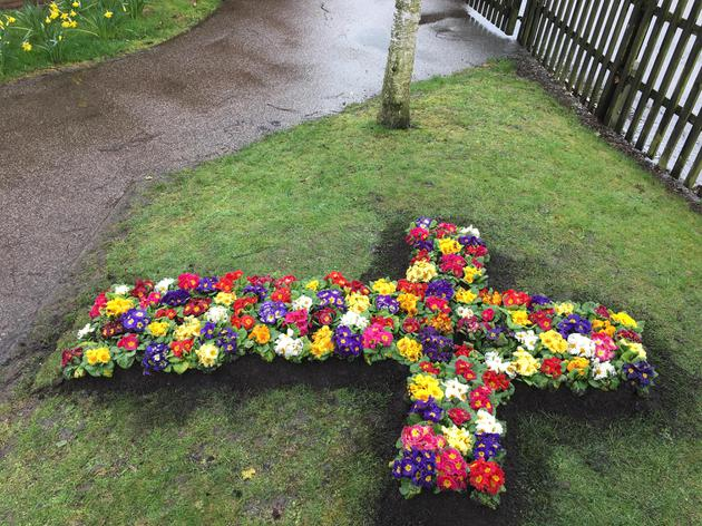 Our beautiful Easter Cross