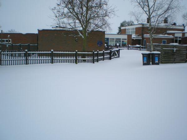 Our car park under a blanket of white