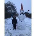 Max's snowman!