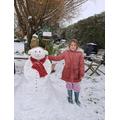 Chloe's snowman