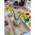 We've been painting the daffodils growing in the garden